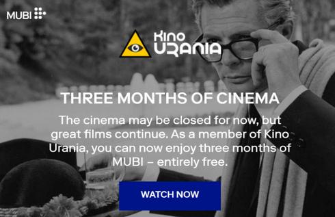 Urania u tvome domu – tri mjeseca besplatnih MUBI filmova