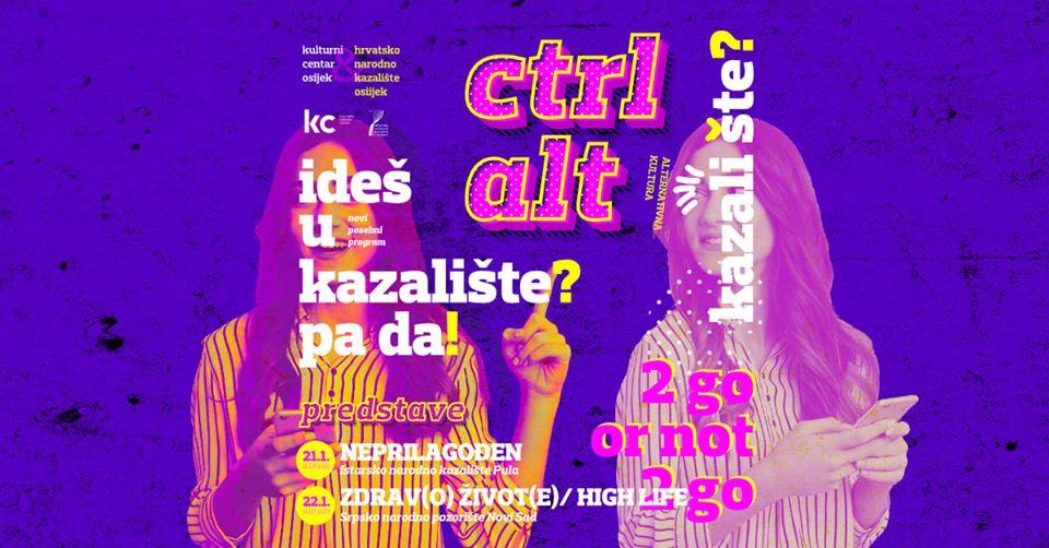 Ctrl Alt - novi kazališni ciklus u Osijeku!