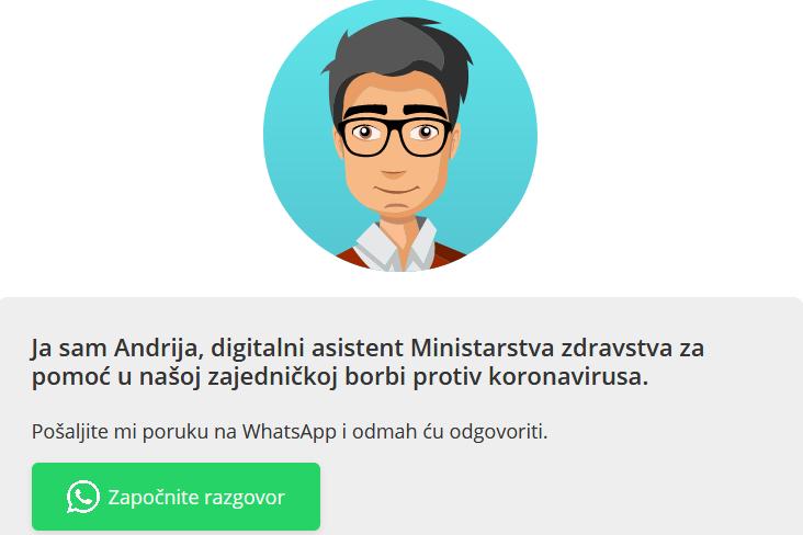 Andrija- digitalni asistent u borbi protiv koronavirusa