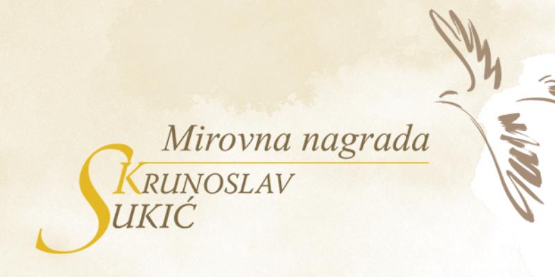 """Poziv za nominacije za mirovnu Nagradu """"Krunoslav Sukić"""" 2020."""