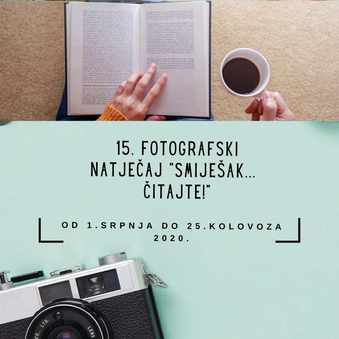 """15. foto natječaj """"Smiješak… čitajte!"""""""