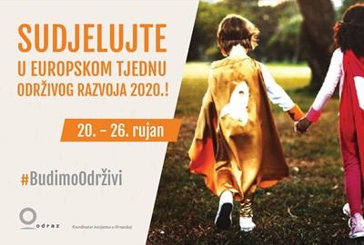 Sudjelujte u Europskom tjednu održivog razvoja - uživo ili virtualno - i budite održivi!