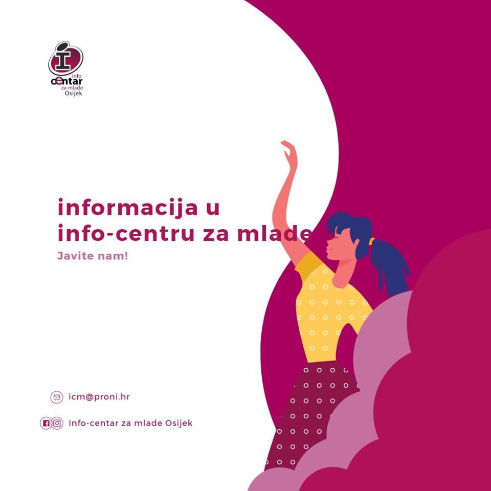 Poziv - Informacija u Info-centru za mlade!