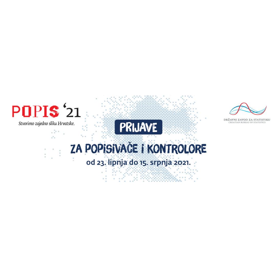 POPIS 21, Javni poziv zainteresiranim kandidatima za posao popisivača i kontrolora