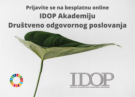 Prijavite se na besplatnu online IDOP Akademiju Društveno odgovornog poslovanja