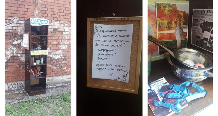 U osječkom naselju Jug 2 osvanuo ormarić za razmjenu stvari, susjedi oduševljeni